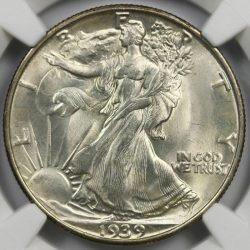 1939-S 50C Walking Liberty Half Dollar NGC MS67