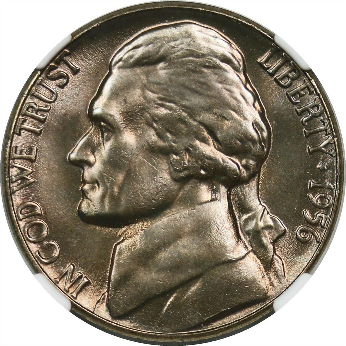 1956 5C Jefferson Nickel