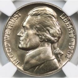 1962 5C Jefferson Nickel NGC MS67