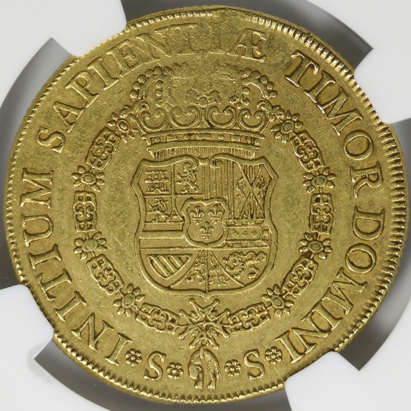 1729-S Spain Gold 8 Escudos Bust Cayon-10009 NGC XF45
