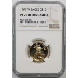 1997-W Gold Eagle G$10 Quarter-Ounce NGC PF70 Ultra Cameo
