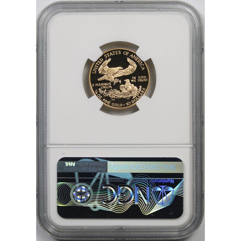 1997-W Gold Eagle G$10 Quarter-Ounce NGC PF70 Ultra Cameo