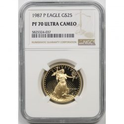 1987-P Gold Eagle G$25 Half-Ounce NGC PF70 Ultra Cameo