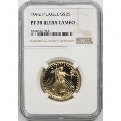 1992-P Gold Eagle G$25 Half-Ounce NGC PF70 Ultra Cameo
