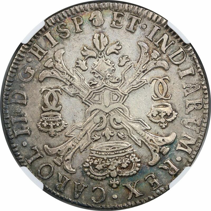 1700 Spanish Netherland Patagon NGC AU55 (Brabant/Antwerp Dav-4498)